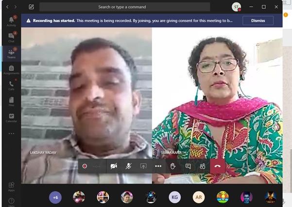 Online: Parent Teacher Meeting