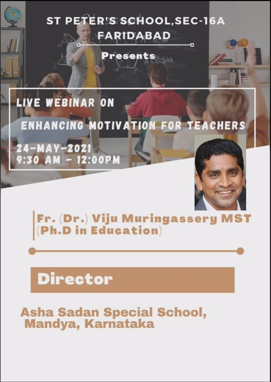 LIVE WEBINAR ON ENHANCING MOTIVATION FOR TEACHERS