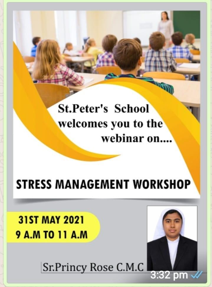 """WEBINAR FOR CLASS X ON """"STRESS MANAGEMENT"""""""